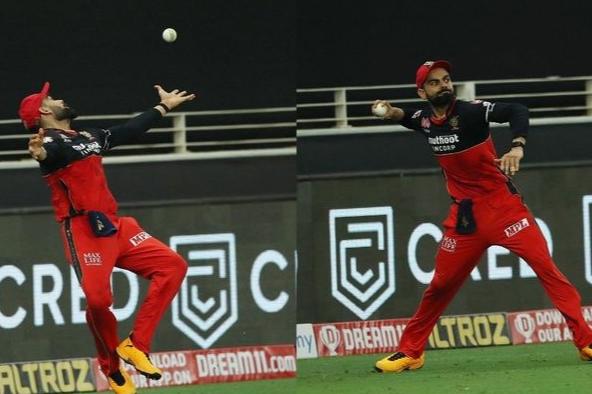 Virat Kohli catch drop